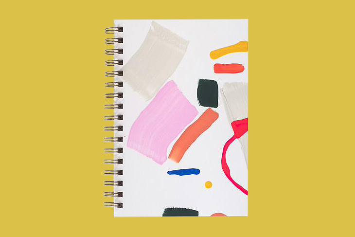 moglea painted trapeze notebook