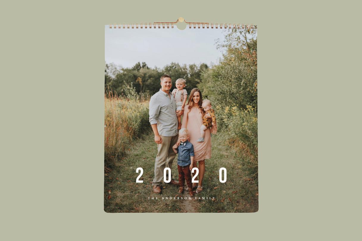 minted photo calendar 2020