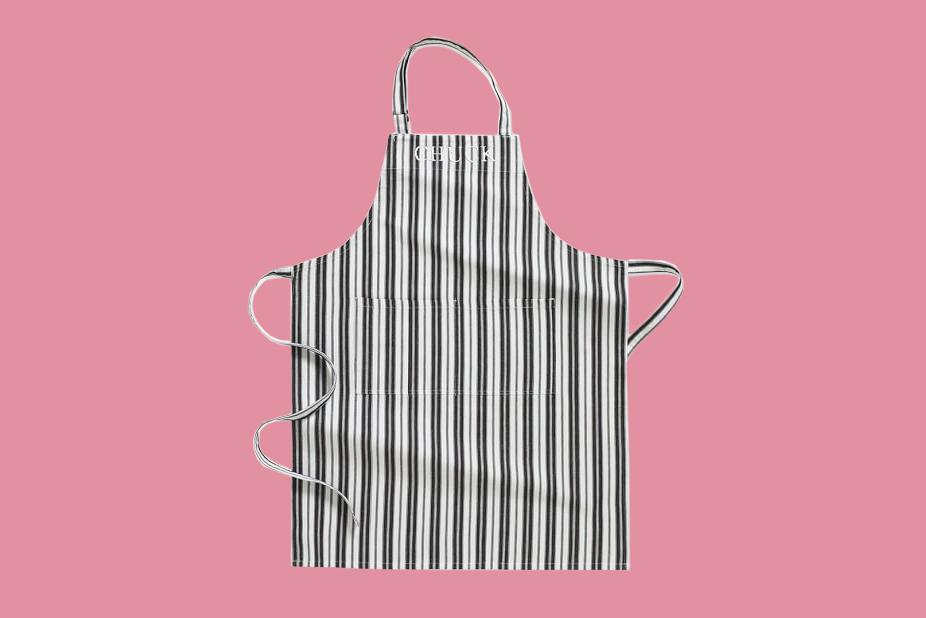 striped williams sonoma apron