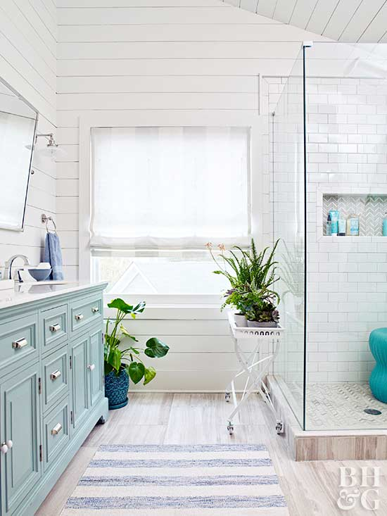 Unique Bathroom Window Treatments 4