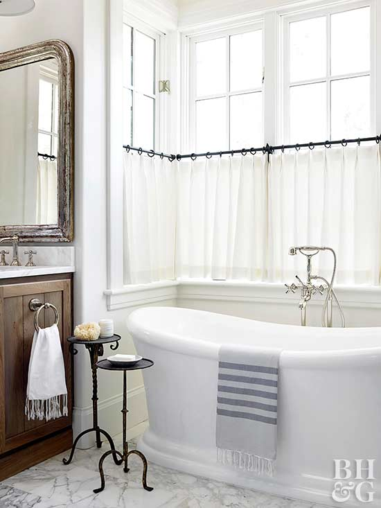 Unique Bathroom Window Treatments 3