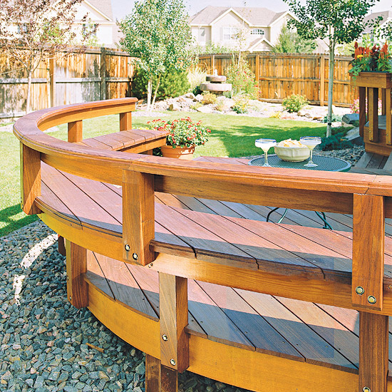 Awesome Built In Seating Solutions For Your Deck Or Patio Ibusinesslaw Wood Chair Design Ideas Ibusinesslaworg