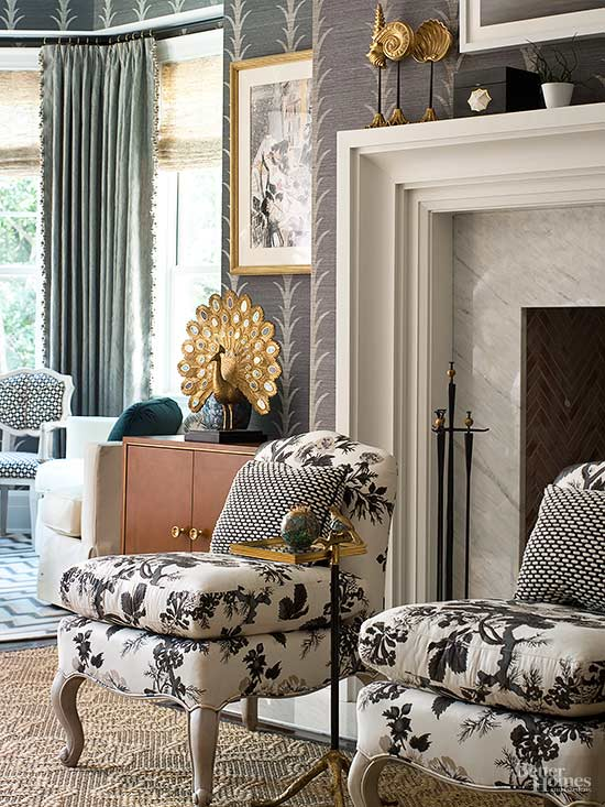 Traditional-Style Living Rooms