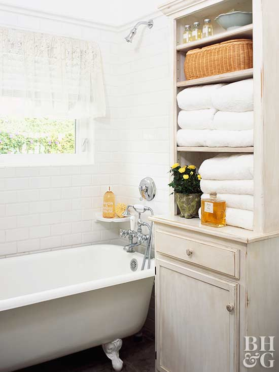 Towel Display Ideas for Bathrooms   Better Homes & Gardens