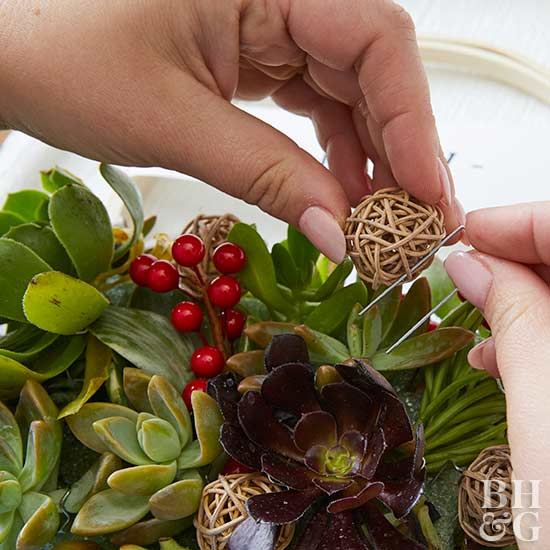 attaching planting components with floral pins