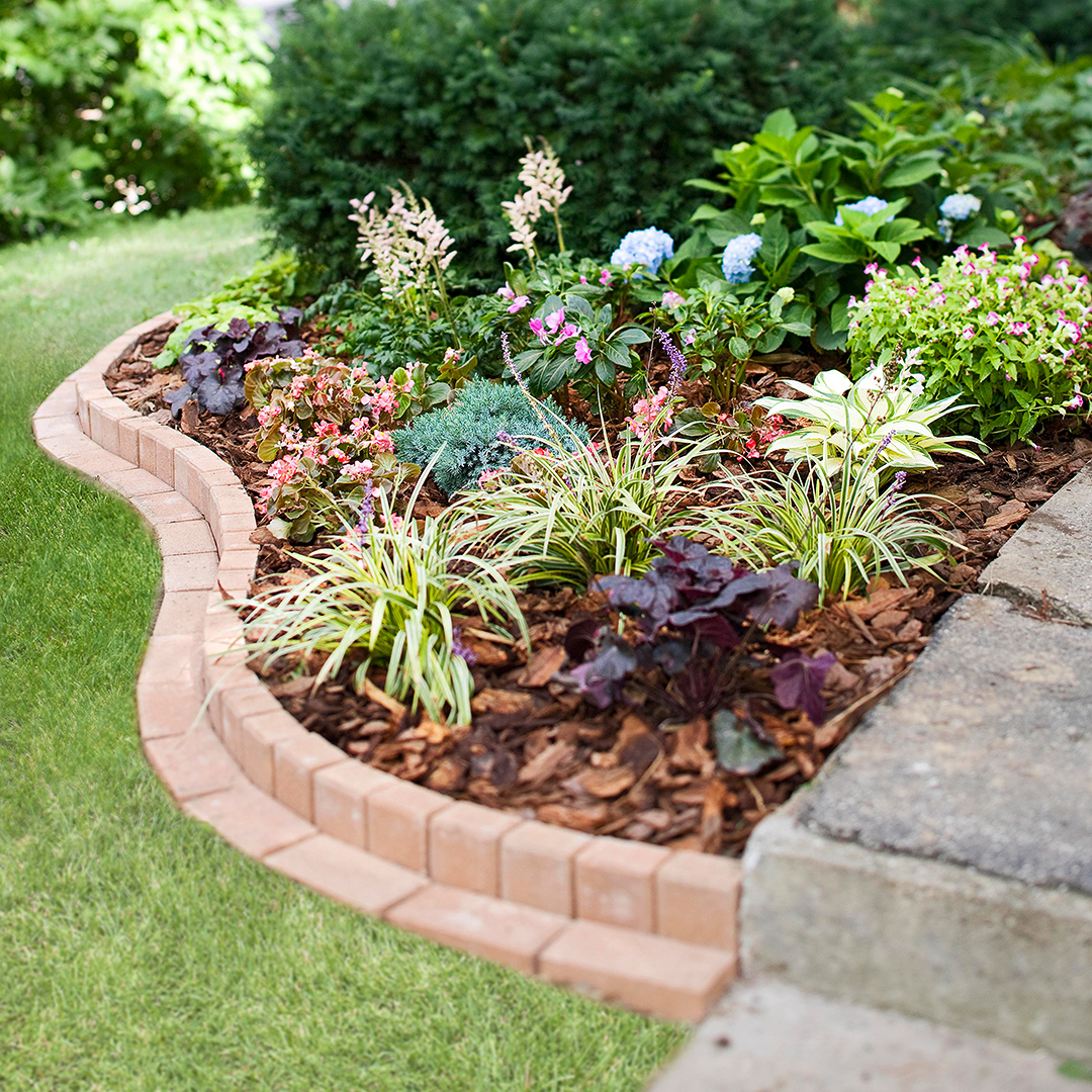 Curved Brick Garden Border | Better Homes & Gardens on natural water fountain design, natural building design, natural walkways, natural bird house design, leather bed design, natural landscaping design, natural wood design,