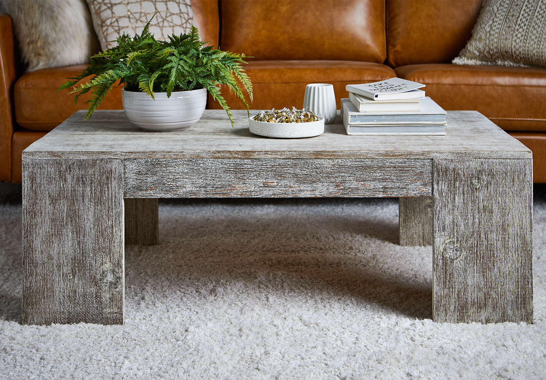 rustic farmhouse coffee table completed project