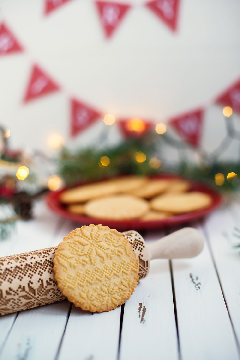 christmas embossed rolling pin from etsy