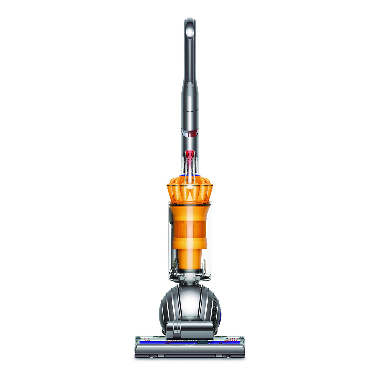 gray and orange dyson vacuum cleaner