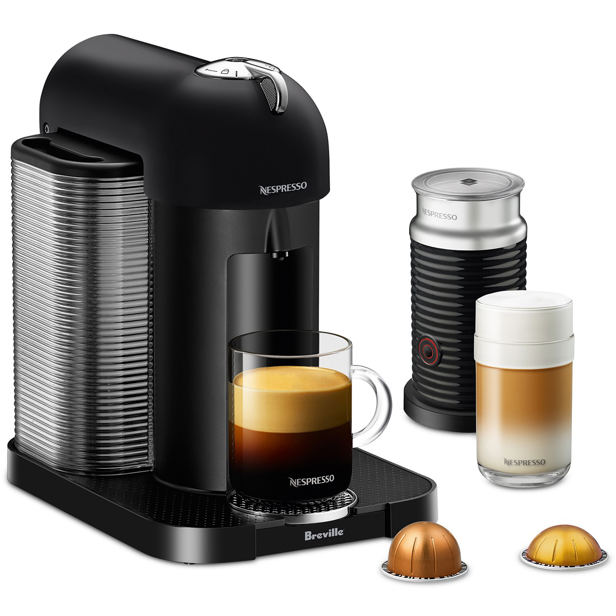 Nespresso by Breville VertuoLine Coffee & Espresso Machine with Aeroccino