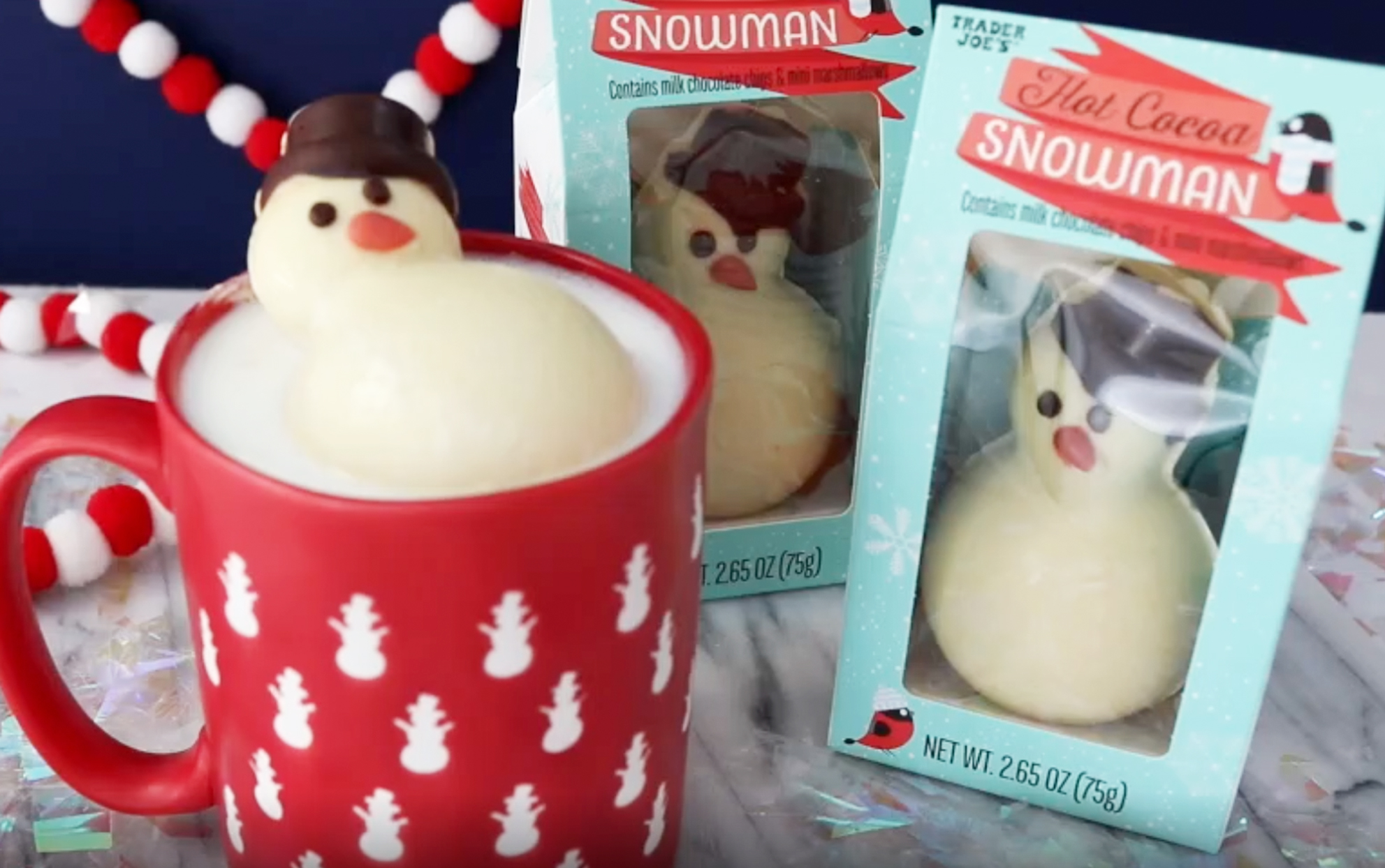Trader Joe's Sells Adorable Snowmen That Melt into the Ultimate Hot Cocoa