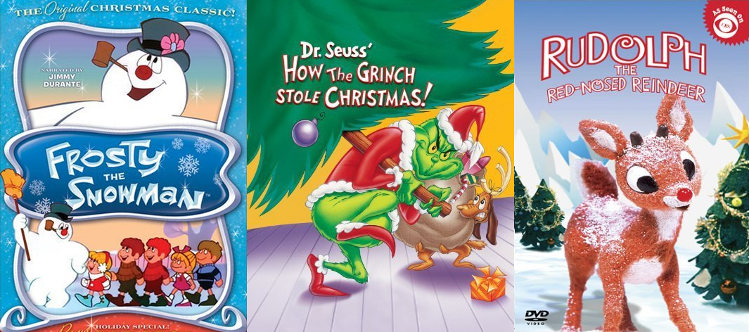 Frosty Grinch Rudolph Movie Covers