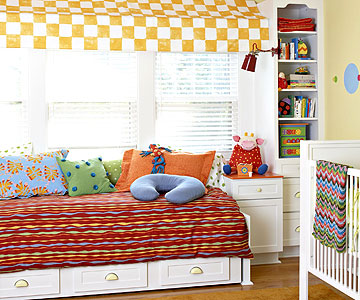daybed shot with Boppy of Ultimate Nursery