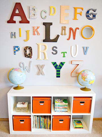 Katie and Jeremy Raadt's Orange and Navy Nursery for Baby Eli