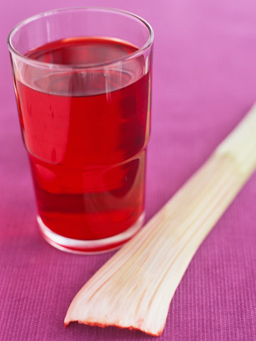 Glass or red water and a celery