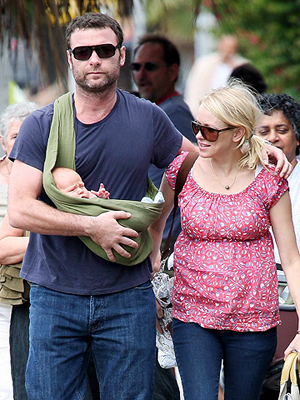 Liev Schreiber and Naomi Watts with new baby