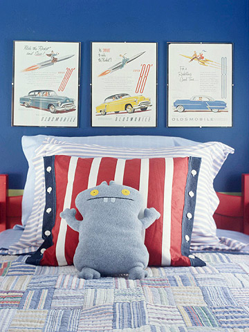 Pictures above bed