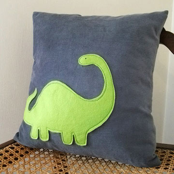 Dinosaur pillow