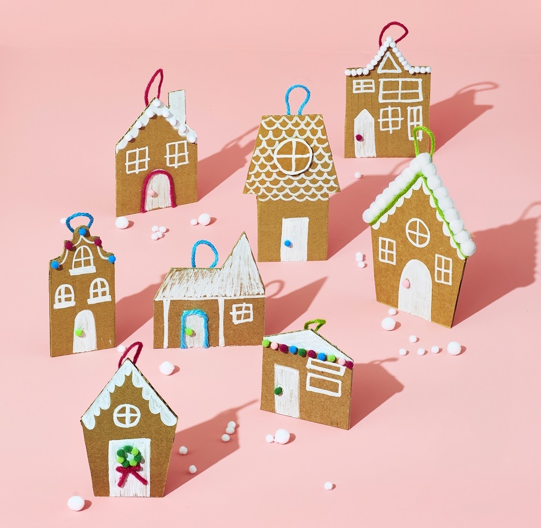 DIY Gingerbread House Ornaments