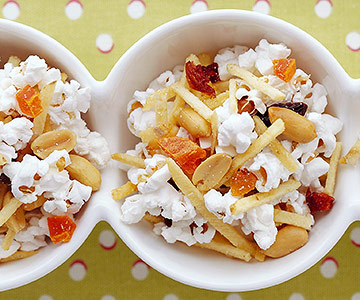 Nutty Popcorn and Fruit Mix
