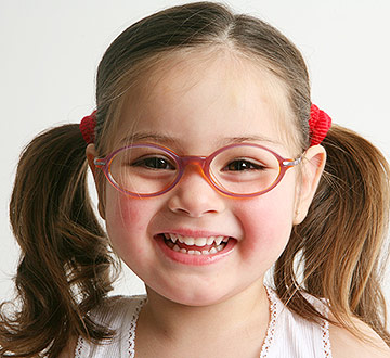 child wearing eye glasses