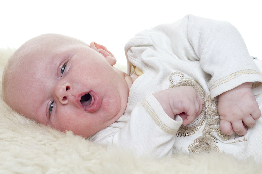 baby coughing