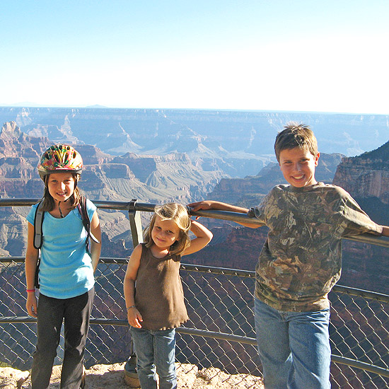 Family sightseeing