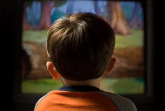 Young Child Watching Television 29159