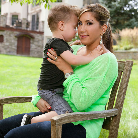 Jacqueline Laurita with her 3-year-old son