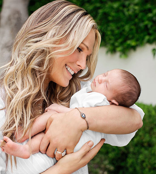 Molly Sims and baby Brooks