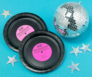 records and disco ball