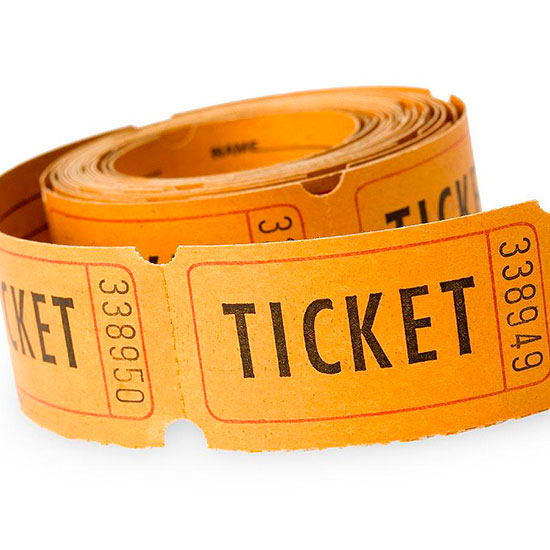 Orange ticket roll