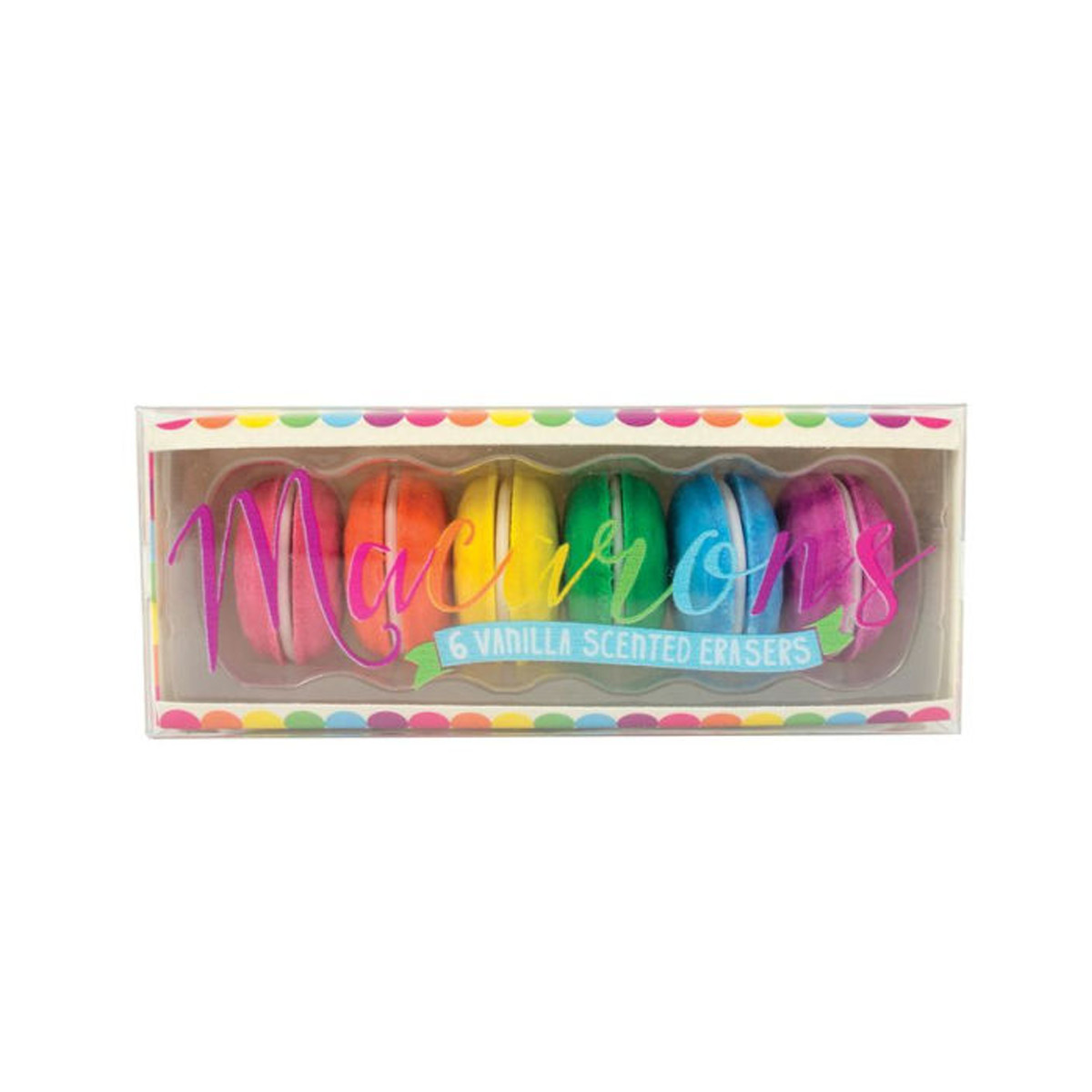 Barnes and Noble Macaron Shaped Erasers