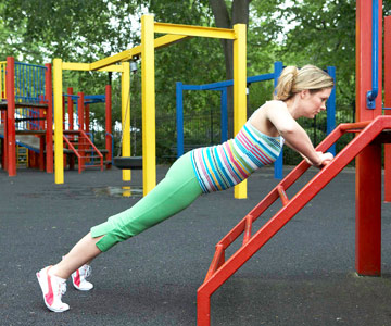 Jungle-Gym Standing Push-Up
