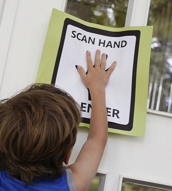 Hand Scan Entry Sign