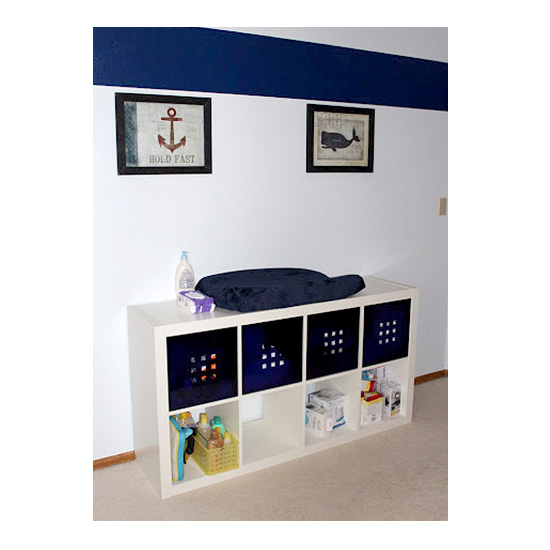 Nautical changing table