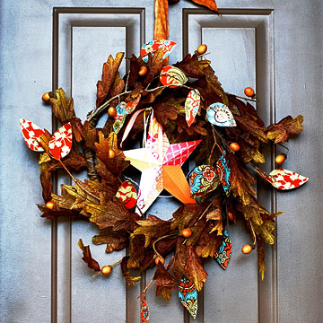 Fall Wreath Makeover