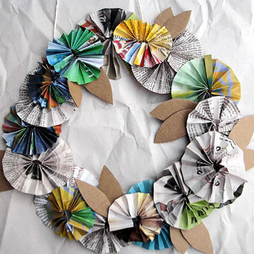 Recycled Paper Posy Wreath