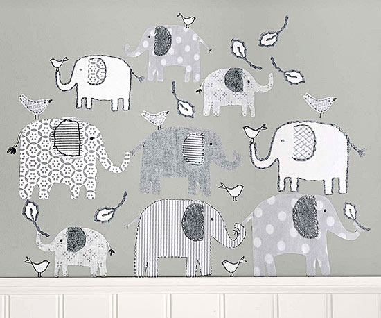 Pottery Barn Kids Elephant decals