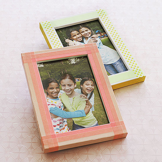Picture frames covered in tape