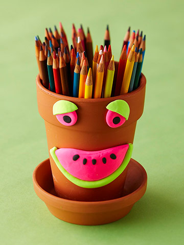 Clay Pencil Holder
