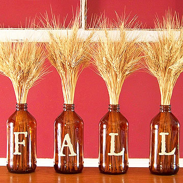 Fall Bottle Centerpiece