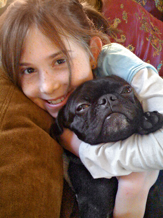 Photo of girl with dog