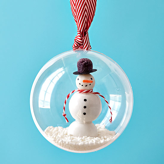 Swingin' Snowman Ornament