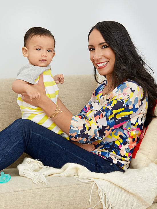 Yesenia Almonte and baby