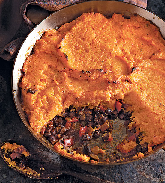 Mexican Shepherd's Pie with Black Beans and Yams