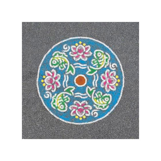 Outdoor Mandala-Designer fish