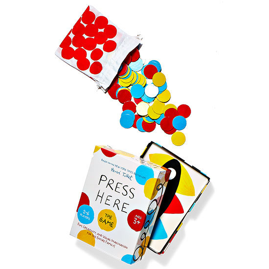 Press here game with dots everywhere