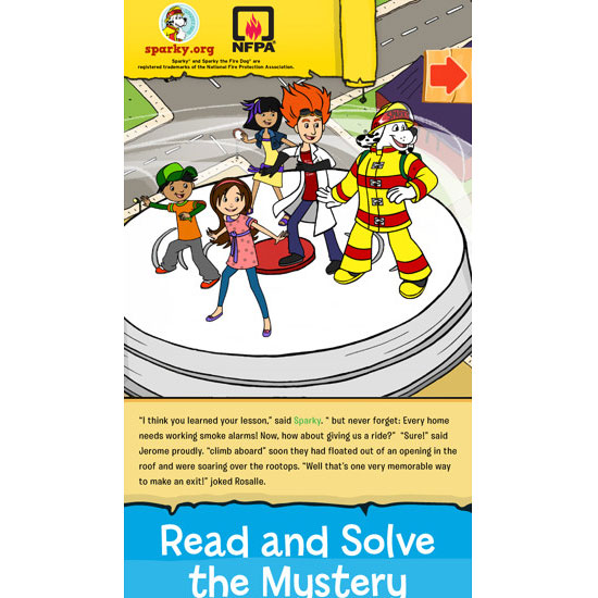 Sparky & The Case of the Missing Smoke Alarms app