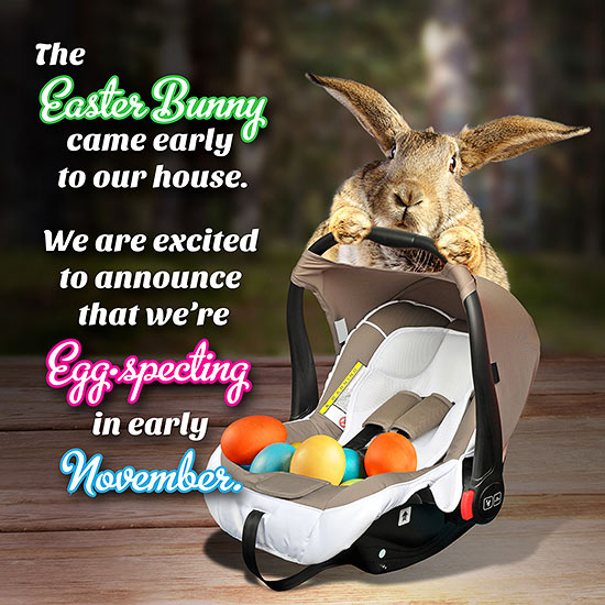 Our Favorite Easter Pregnancy Announcements